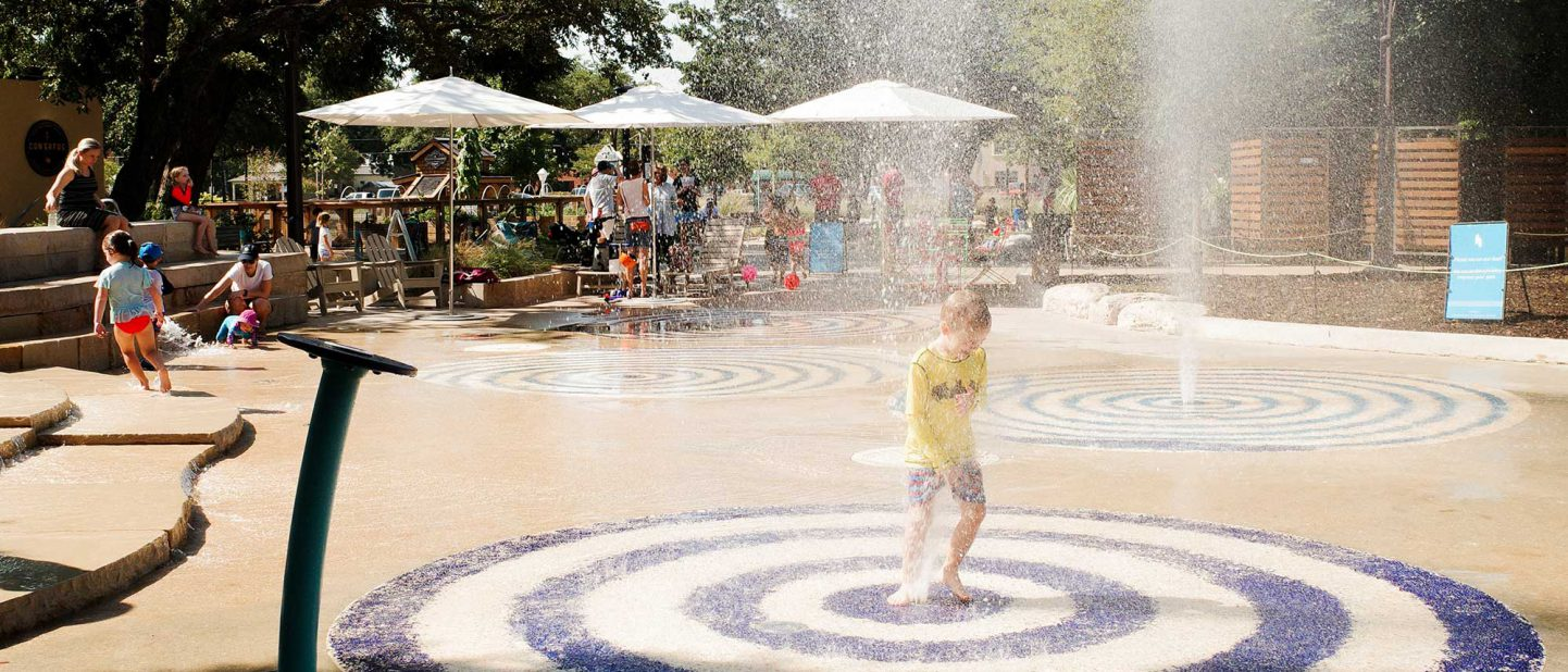 Union Pacific Splash Pad at Hemisfair