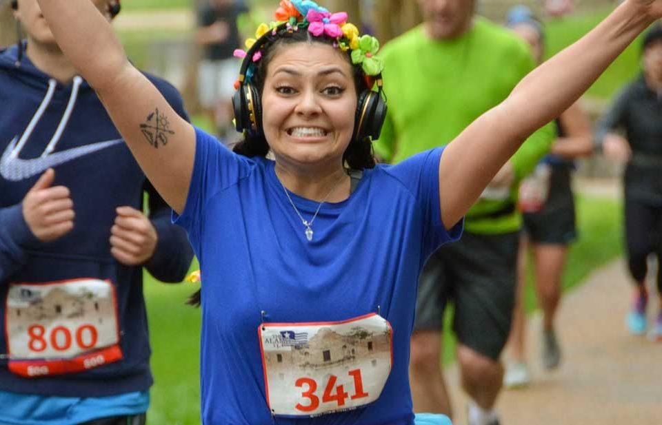 Runners at the Alamo 13.1 Half Marathon