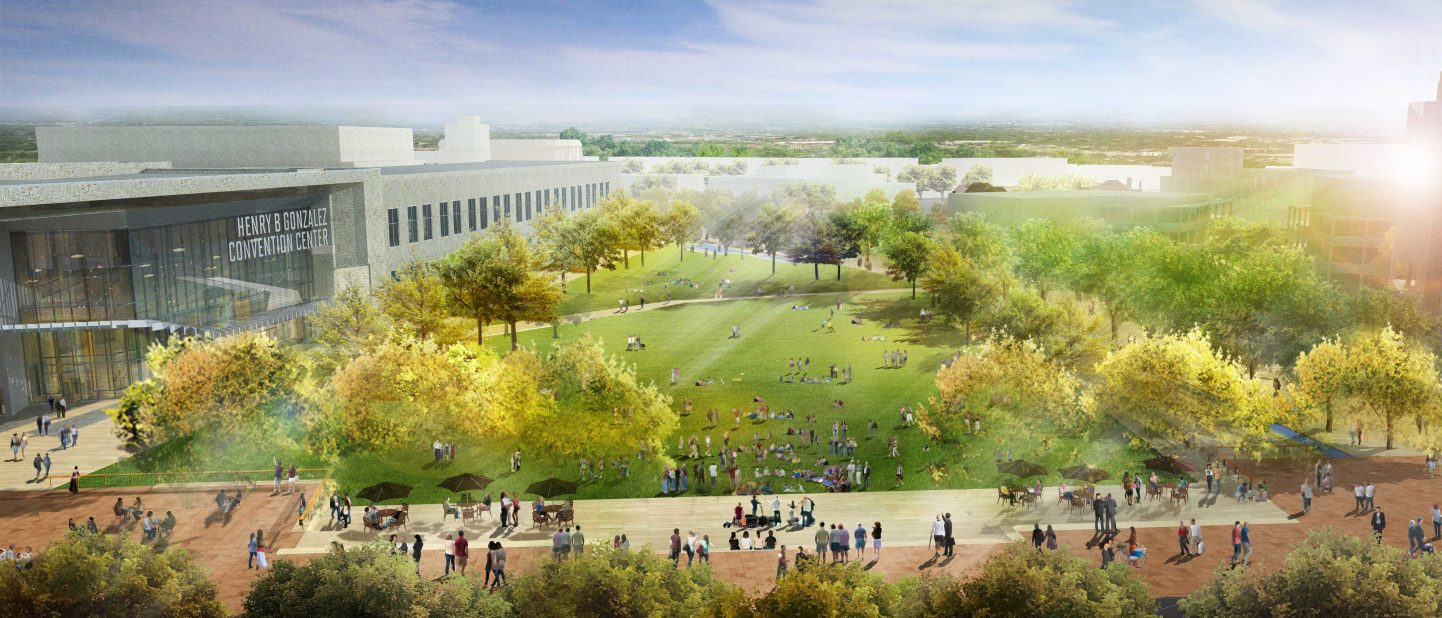 Civic Park at Hemisfair rendering
